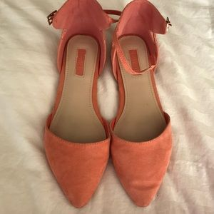 Forever 21 Coral (Peach/Salmon) Flats Size 7